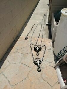 Thern Machine Co Chain Hoist 1000 Lbs 1 2 Ton 10 Ft Chain Vintage Made In Usa