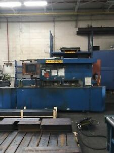 Metlsaw Model Cs4t8 12 Saw With Feed Table Backgauge Exit Roller Table Fence