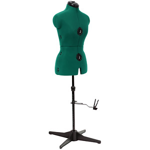Adjustable Sewing Dress Form Size Opal Green Size Small