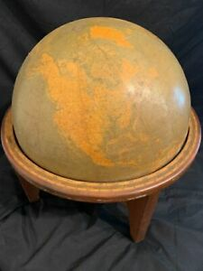 Webber Costello Mid 20th Century Globe With Wooden Frame