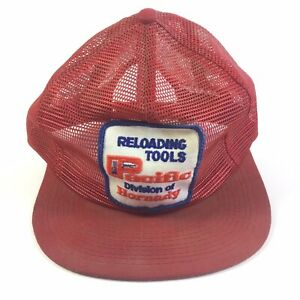 Vintage Hornady Pacific Reloading Tools Snapback Cap Trucker Hat Full Mesh Patch $18.99