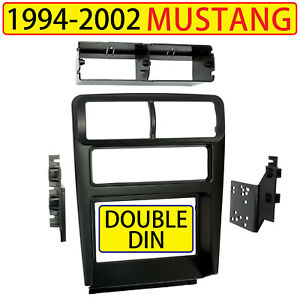Car Stereo Radio Double Din Dash Kit Bezel For 1994 2002 Ford Mustang