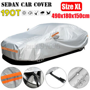 Car Cover Waterproof Sun Snow Dust Rain Resistant Protection Xl Size For Sedan Fits 1968 Mustang
