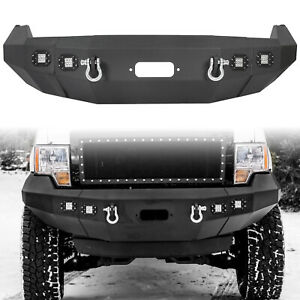 For 09 14 Ford F150 F 150 Black Front Bumper Heavy Duty Replacement Winch Ready