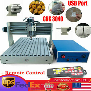 Usb Cnc Router Engraver Engraving Cutter 4 Axis 3040 T screw Desktop Cutting rc