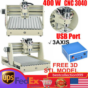 Usb 3 Axis 400w 3040 Cnc Router 3d Engraver Engraving Drilling Machine Woodwork