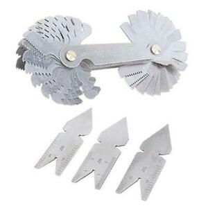 Screw Thread Pitch Cutting Gauge Tool Set Stainless Steel Centre Gage With