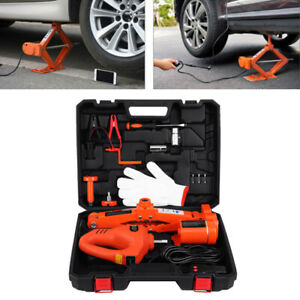 3 Ton Automotive Electric Car Scissor Floor Jack Lift With Impact Wrench 12v Dc