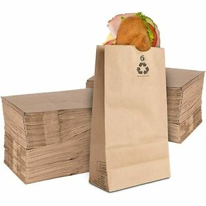 Stock Your Home 6 Lb Kraft Brown Paper Bags 200 Count Small Kraft Lunch Bags