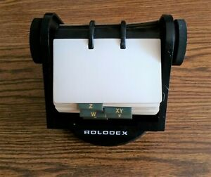 Vintage Rolodex Model sw 35 Rotary Business Card File W cards