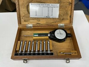 Complete Mitutoyo Split Ball Dial Bore Gage 4 7 X 0001 No 526 104