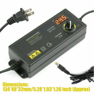 Adjustable Voltage Power Supply 3 24v W Lcd Display Ac Dc Switch Adapter Us