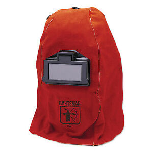 Wh20 860p Leather Welding Helmet Green 10 Red 860p 2 In X 4 1 4 In