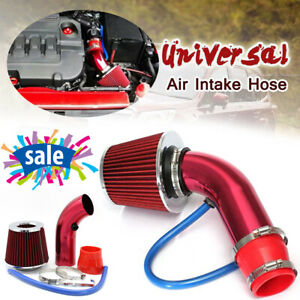 Cold Air Intake Filter Alumimum Induction Pipe Hose System Universal Accessory
