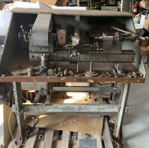 Vintage Hjorth Lathe 36 With Tooling excellent Working Condition