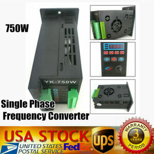 1hp Single Phase Input Three Phase Output Frequency Converter Inverter 220v Us