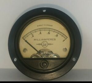 Beautiful Early 1960s Link Panel Ammeter 0 1 Ma From Us Military Uhf Amp