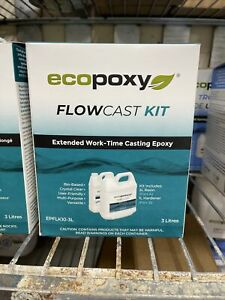 Ecopoxy Flowcast 3l Kit 0 79 Gallon Clear Casting Epoxy Resin Wood River Table