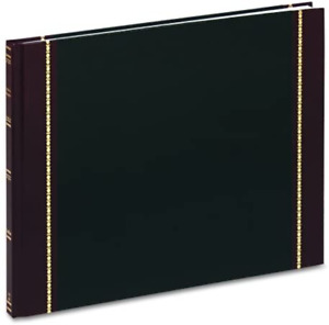 Tops Visitors Register Book Black Cover 200 Pages 12 1 4 X 9 1 2