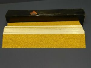 50 Sheets High Teck 165080 80 Grit 2 75 X16 5 Gold Psa File Board Paper