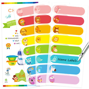 Baby Bottle Labels For Daycare Self laminating Waterproof Write on Name Labels