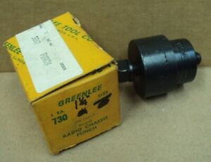 Greenlee Tool Co Usa No 730 Size 1 1 4 Round Radio Chassis Punch