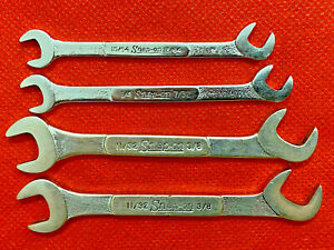 Snap On Dsz Series Sae Ignition Wrench Set Double Ended Offset 4 Pieces Usa