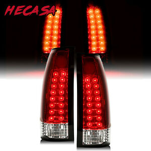 For 88 99 For Chevy C K C10 1500 2500 3500 Blazer Escalade Led Tail Lights Pair