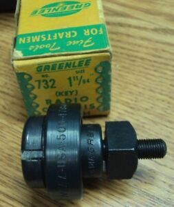 Greenlee Tool Co Usa No 732 Size 1 11 64 Radio Chassis Punch