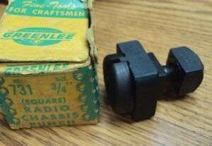 Greenlee Tool Co Usa No 731 Size 3 4 Square Radio Chassis Punch