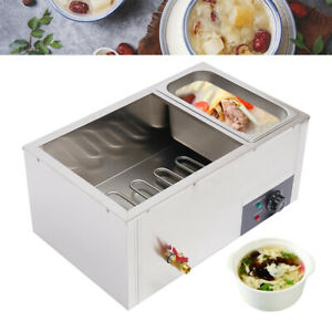 Commercial 3 Pan Food Warmer Steam Buffet Countertop Electric Steam Warmer Cater