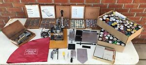 Kingsley Hot Foil Stamping Machine 5 Boxes Of Typeface Lot Of Foil Misc Parts