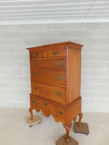 L J G Stickley Cherry Valley Chippendale Style Highboy Chest