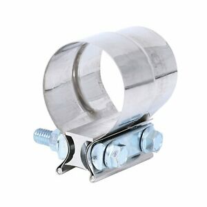2 Stainless Exhaust Band Clamp Step Clamps For Catback Muffler Pipe