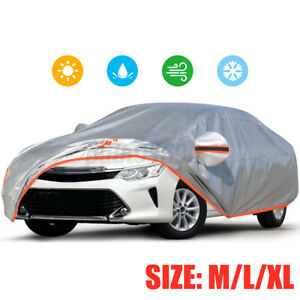 Audew Full Car Cover 210d Oxford Fabric Uv Protection Dust Rain Snow Resistant Fits 1968 Mustang