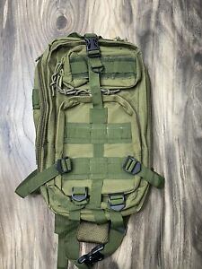 Military Style Tactical OD Green Backpack With Pockets $24.99