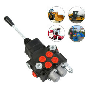 11gpm 2 Spool Hydraulic Directional Control Valve Tractor Loader W Joystick