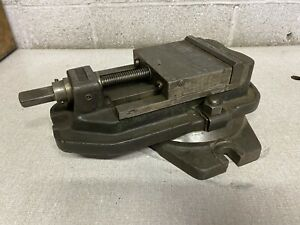 Brown Sharpe No 22 Milling Machine Vise 5 Jaws With Swivel Base