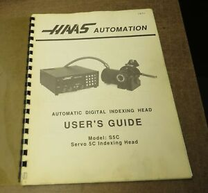 Haas Model S5c Indexer User s Giude For Indexers With 14 Pin Cable