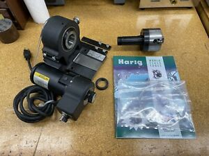 Harig Ab Motorized 5c Spin Indexer With 4 jaw Chuck And Extra Belt Baldor Usa