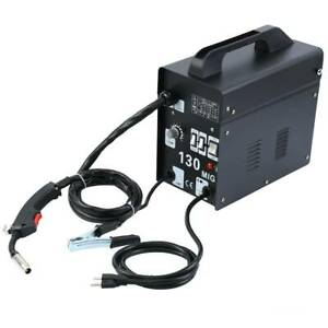 Mig 130 Welding Machine Welder Gas Less Flux Core Wire Automatic Feed 50 120 Amp