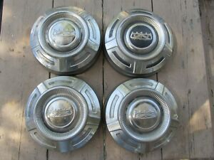 Vintage Ford Truck Stainless Steel Dog Dish 12 Inch Hubcap Set Of 4 1967 1972