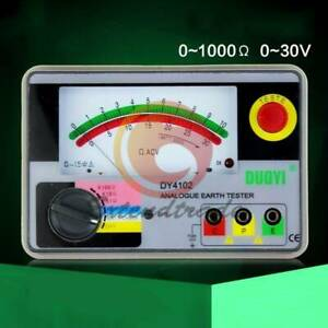 Dy4102 Analog Earth Ground Resistance Tester Meter 0 01 To 2000 New