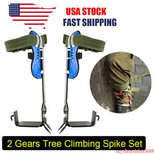 Tree Climbing Spike 2 Gears Set Safety Belt Adjustable Rope Rescue Belt Durable