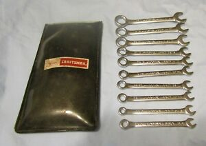 Vintage 1970s Sears Craftsman 10 Pcs Combination Ignition Wrench Set 9 43441