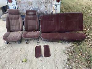 1981 1988 Monte Carlo Bucket Seats Rear Seat Decent Condition Free Shipping
