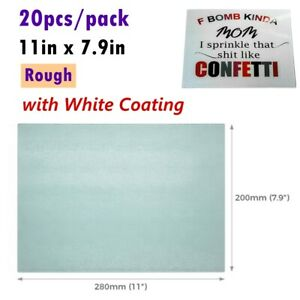 20 pack Tempered Glass Cutting Board Sublimation Blanks White Coating Rough