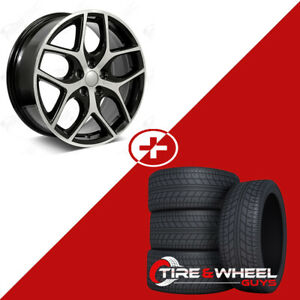 17 Machined Face W Black Outline Wheels W Tires Fits Ford Focus Fusion
