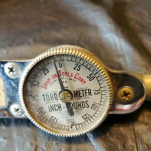 Nice Snap On 3 8 Drive Vintage Torque Wrench Torqometer Tq 12 B 150 Pounds
