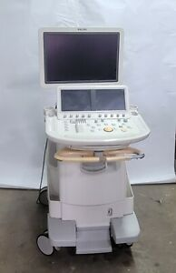 Perfect Working Order Philips Ie33 Ultrasound Cart E1 2 Transducers X3 1 C9 4